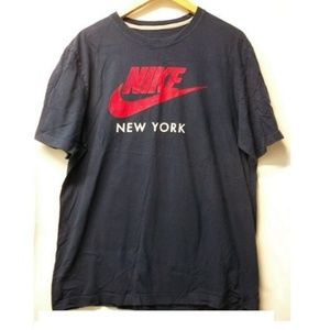 """NIKE Men's XL Blue """"Nike Logo New York"""" Tshirt"""
